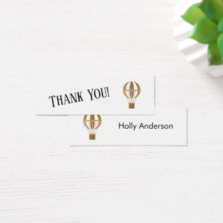 Simple Thank You Gold Hot Air Balloon Insert Card