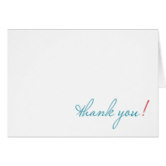 simple thank you notecard