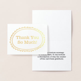"""Simple """"Thank You So Much!"""" Card"""