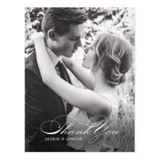 Simple Thank You Wedding Postcard