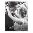 Simple Thank You Wedding Postcard