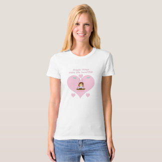 """Simple things"" beach ecological for woman T-Shirt"