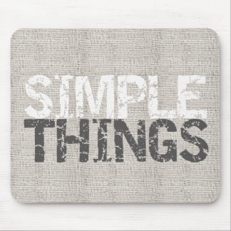 Simple Things Burlap ID184 Mouse Pad
