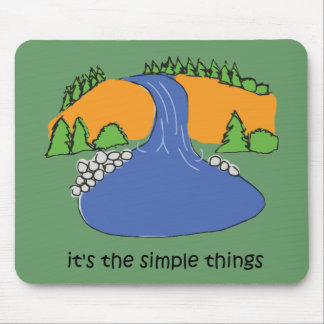 Simple Things - Waterfall Mouse Pad