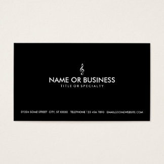 simple treble clef business card