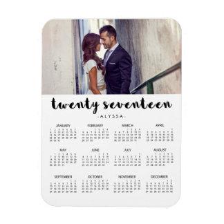 Simple Trendy Typography 2017 Photo Calendar Magnet