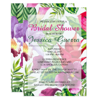 Simple Tropical Bridal Shower Invitation