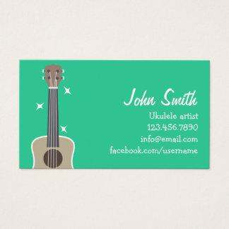 Simple Ukulele Artist Music Profile Card