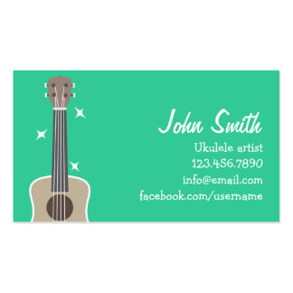 Simple Ukulele Artist Music Profile Card Pack Of Standard Business Cards