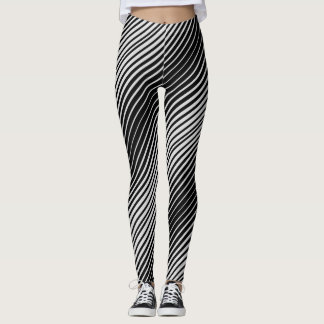 Simple Variable White Lines Leggings