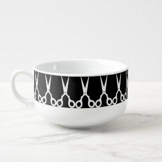 Simple Vector Scissors (Pick Your Own Color) Soup Mug
