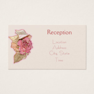 Simple Victorian Reception Invite