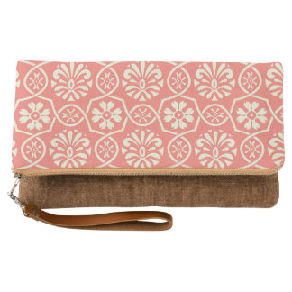 Simple Vintage Floral Pattern Clutch