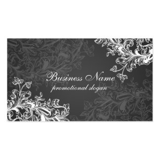 Simple Vintage Scroll Black Double-Sided Standard Business Cards (Pack Of 100)