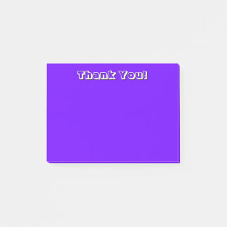 Simple Violet Thank You Post-it Notes