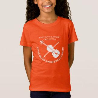 Simple violin orchestra custom concert t-shirt