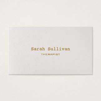 Simple Warm White Elegant Professional Business Card