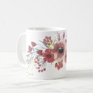 Simple Watercolor Floral Mug