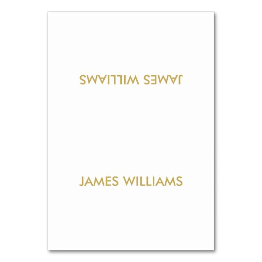 Simple Wedding Place Cards Gold And White Table Cards