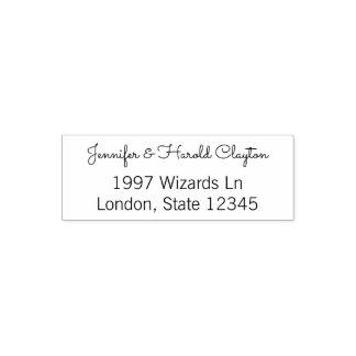 Simple Wedding Return Address | Couple Names Self-inking Stamp
