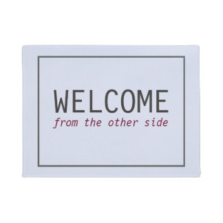 Simple Welcome From the Other side Black Frame Doormat