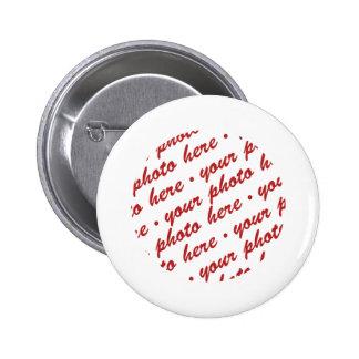 Simple White Circle Photo Frame Pin