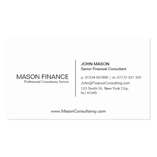 Simple White Customizable Business Card Template