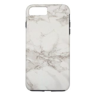 Simple White Gray Marble Texture Personalized iPhone 7 Plus Case