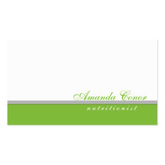 Simple White Healthy Life/Nutrition Coach Card Pack Of Standard Business Cards
