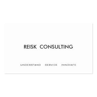 Simple White Modern Consulting Professional Business Card