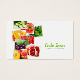 Simple White Nutritionist Business Card