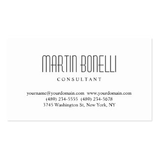 Simple White Professional Business Card