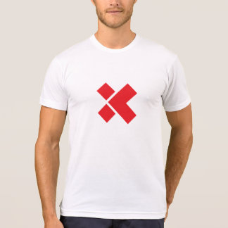 Simple White/Red X T-Shirt