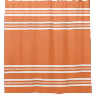 Simple White Stripes On Orange