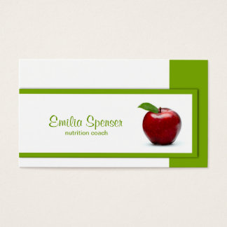 Simple White With A Red Apple Nutritionist Card