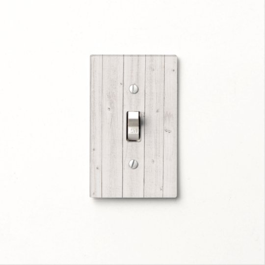 Simple White Wood Light Switch Cover