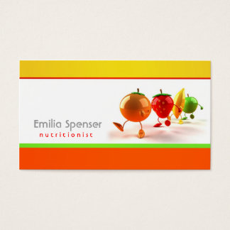 Simple White, Yellow & Orange Healthy Life Card