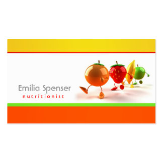 Simple White, Yellow & Orange Healthy Life Card Business Card