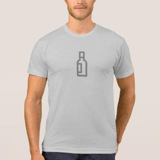 Simple Wine Bottle Icon Shirt