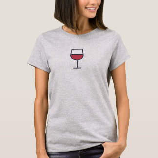 Simple Wine Glass Icon Shirt
