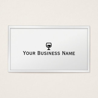 Simple Wine Glass White Winery Business Card