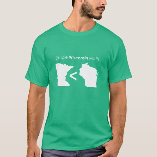 Simple Wisconsin Math T-Shirt