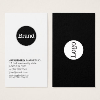 Simple with Logo (slate grey) Business Card