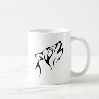 Simple Wolf Howl Coffee Mug
