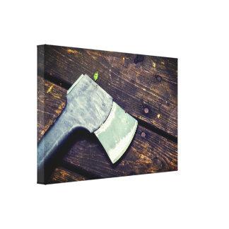 Simple Wood&Axe Canvas Print