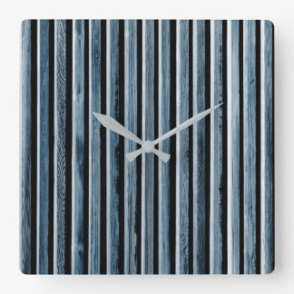 Simple Wood Stripe Fence Pattern Square Wall Clock