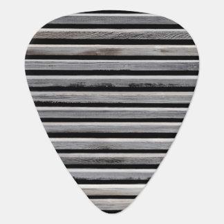 Simple Wood Stripe Pattern Guitar Pick