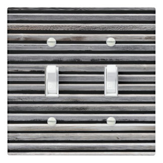 Simple Wood Stripe Pattern Light Switch Cover