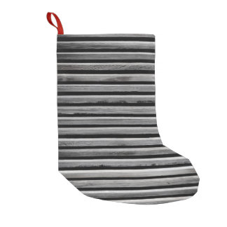 Simple Wood Stripe Pattern Small Christmas Stocking