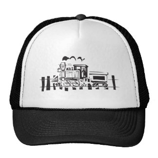 Simple Woodcut Locomotive Trucker Hat
